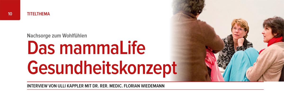 Interview - Das mammaLIFE Gesundheitskonzept
