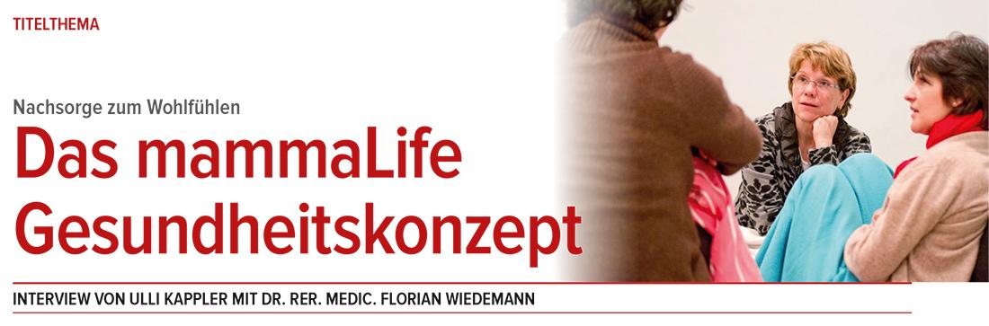 Interview mammaLIFE-Gesundheitskonzept